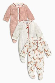 Buy Red Sleepsuits Three Pack (0mths-2yrs) online today at Next: United States of America