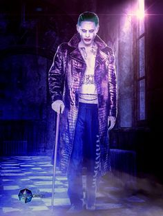 ~~OUR JARED LETO AS THE NEW JOKER IN SUICIDE SQUAD ~~Made By Sylvia @SPRSPRsDigitalArt.Com ~DeviantArt.Com~