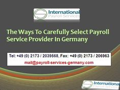 64ac8082090 The Ways To Carefully Select Payroll Service Provider In Germany   gt  gt  gt