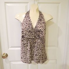 50% OFF ONE DAY SALE GOING ON NOW!!   Worthington Animal Print Sleeveless Top Size 10 VERY NICE!! #Worthington #Sleeveless