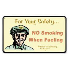 No Smoking Sign No Smoking When Fueling