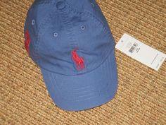 8241ee6257c NEW POLO RALPH LAUREN BABY BOY BASEBALL CAP 12 - 24 MONTHS BIG PONY BLUE
