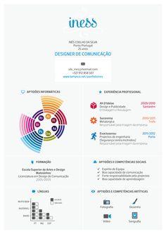 Curriculum Vitae by ines silva, via Behance