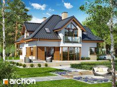 Projekt domu Dom w rukoli 5 (G2N) - ARCHON+ Small Loft Apartments, Casas Country, Home Fashion, House Plans, Floor Plans, Construction, House Design, Flooring, How To Plan