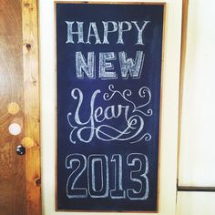 My new year's chalkboard - Photo by meganmiller725