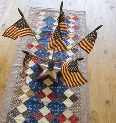 Great Americana table runner.  #memorial #veterans' #July_4th
