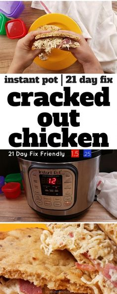 This Healthier Cracked Out chicken is a great recipe that is fast, healthy, and easy to make. The whole family will love Instant Pot Cracked out Chicken!