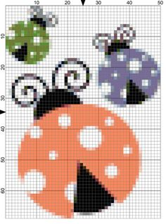 Adorable Needlepoint Ladybugs to Stitch for Spring: Day 99 of the 365 Needlepoint New Year's Resolutions Challenge