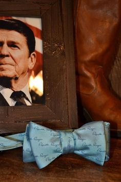 Bow Tie - Ronald Reagan Signature No. 6 - Reagan Blue