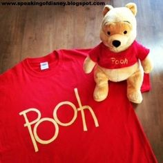 Quick, Easy & Cheap Pooh T-Shirt Costume - Speaking of Disney