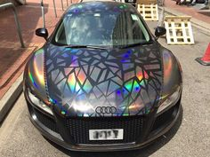 Holographic Audi by Impressive Wrap cars Audi A, Ferrari, Lamborghini, Dream Cars, Tesla Motors, Pretty Cars, Fancy Cars, Sweet Cars, Car Painting