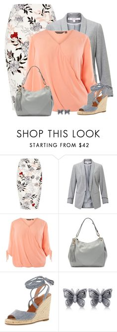 """Coral with grey"" by csilla06 ❤ liked on Polyvore featuring River Island, Miss Selfridge, Dorothy Perkins, Mellow World, Joie and Allurez"