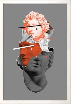 vaporwave statue Claude Mourth Le Roi L - vaporwave Collage Design, Collage Art, Art Vaporwave, Photocollage, Glitch Art, Aesthetic Art, Aesthetic Statue, Graphic Design Inspiration, Oeuvre D'art
