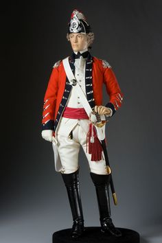 About General John Burgoyne, Gentleman Johnny, from Historical Figures of England, a full length portrait by artist and historian George Stuart. American Revolutionary War, American War, Military Figures, Military Art, Historical Costume, Historical Clothing, Mary Stewart, Band Uniforms, Army Uniform