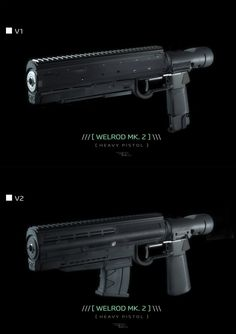 Cyberpunk Welrod Mk 2 by BoldCat on DeviantArt Sci Fi Weapons, Weapon Concept Art, Fantasy Weapons, Weapons Guns, Guns And Ammo, Deviant Art, Arte Sci Fi, Future Weapons, Gadgets