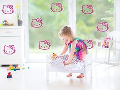 """Set Of 8 Removable Hello Kitty Wall Art Décor Decal Vinyl Sticker Mural 5"""" Chic Walls http://www.amazon.com/dp/B00OW8OMQE/ref=cm_sw_r_pi_dp_N4ZCub1JAKSDR"""