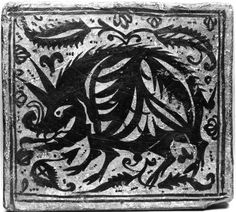 Ceiling Tile (socarrat) with a Boar 1396-1410 Tiles of this kind, known in Spanish as socarrats, were arranged facing down between ceiling crossbeams. This one, together with Walters 48.2106.2, 48.2106.8 and 48.2106.9, comes from a large residence in the southern Spanish city of Valencia. Little is known about the original use of the building, demolished around 1890: