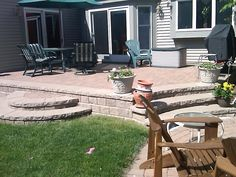 Pavers in Canton need Repair, Sanding, & Cleaning This past week we did a much needed repair of a brick paver raised patio in Canton, Mich. Patio Steps, Cheap Patio Pavers, Brick Paver Patio, Concrete Patio, Backyard Patio, Backyard Ideas, Patio Decks, Concrete Blocks, Diy Patio