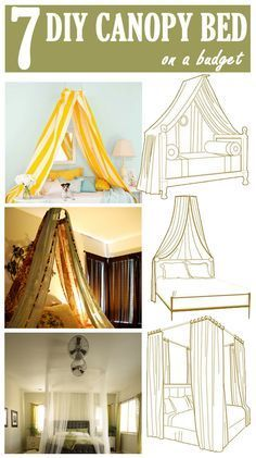 Today, I give you the beautiful inspirations for DIY Canopy Beds. Check the Gallery and Enjoy!