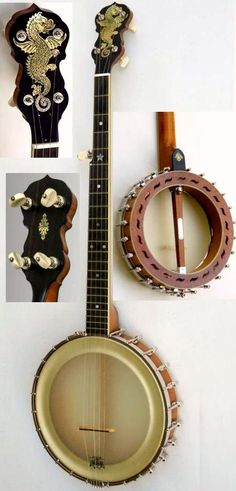 "Norbert Pietsch ""the Chubby Dragon"" 5 string old time Banjo --- https://www.pinterest.com/lardyfatboy/"