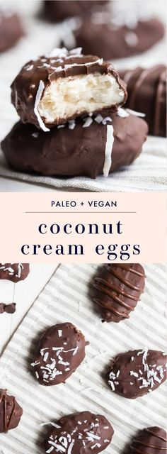 Paleo Vegan Coconut Cream Eggs #DairyFree | 40 Aprons