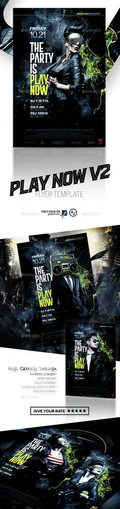 Play Now Flyer Template PSD. Download here: http://graphicriver.net/item/play-now-flyer-template-v2/15386505?ref=ksioks