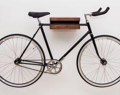 wooden bike hook // BLACK WALNUT by fluoshop on Etsy