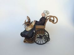 MADE TO ORDER Miniature Wicker Wheelchair for by Wickerville  $295