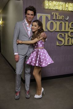Hey guys! Ariana performed with Mika on the Tonight Show with Jay Leno yesterday wearing a two piece set made for her by Kenley Collins! x Kay Marie