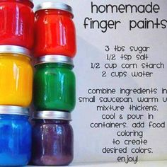 Finger Paint is something that can retail at a high cost, so why not try this recipe before you spend a lot of money! I think finger paint is a great resource to have on hand for kids under 2 years of age. It's a great medium of expression  and sensory exploration and if you make your own then at least you know what's in it in case the young one's eat it!