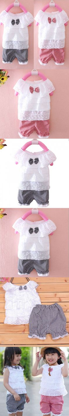 Girls newborn baby clothing sets summer for 2016 summer infant baby girl clothes brand set suit t-shirts+shorts
