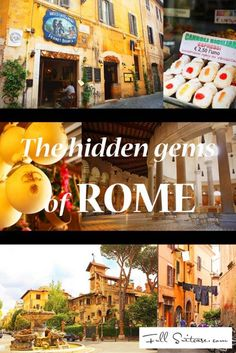 The hidden gems of Rome. Find out about some of the less-known amazing places in Rome that most tourists never see. One by one top experiences, all within walking distance from the city centre. Read it and save it for later because one day your road will lead to Rome too!