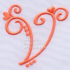 Amazing Embroidery Designs  Letter V