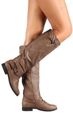 Womens Riding Boots Knee High Fashion Slouch Faux Leather Hot Stylish Shoes Size | eBay