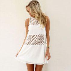 Summer Lace Beach Mini Dress