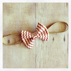 Nautical cream and red chevron 4th of July headband by dropofhoneybowtique, $8.95