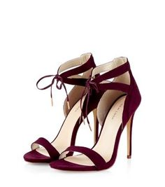 The epitome of elegance - our Burgundy Tie Front Cut Out Heels. #newlook #shoes