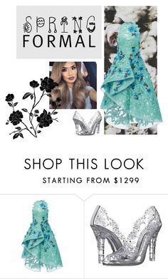 """""""Spring Formal"""" by itsmebr1 ❤ liked on Polyvore featuring Monique Lhuillier and Dolce&Gabbana"""