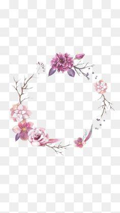 Flower border PNG and Clipart Floral Wreath Watercolor, Watercolor Flowers, Flower Border Png, Flower Png Images, Makeup Artist Logo, Floral Logo, Instagram Logo, Flower Clipart, Instagram Highlight Icons