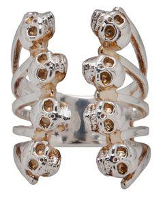 Delfina Delettrez Babel Skull Ring $480