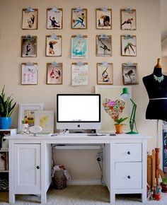 Organize & Decorate:  Clipboards in the Home Office