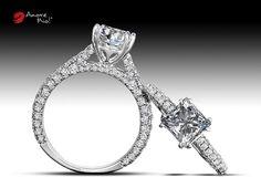 Anillo de Oro Blanco 18kt SKU: WG1830293 Diamante Princess 1.29 quilates. Color-G, Claridad VS1 Laboratorio - EGL, SKU Diamante: 1144865406, Piedras Laterales: 1.05 carats, Precio: $153,212.16 pesos M.N *Consulte términos y condiciones.