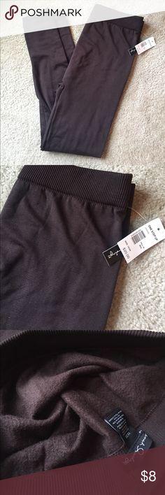 NEW 1X/2X brown leggings with fleece lining NEW brown leggings with fleece lining, 1X/2X 92% polyester/8% spandex Pants Leggings