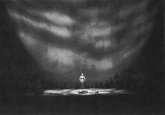 """"""" Götterdämmerung """" 3.Aufzug 1.Bild 1966 Wieland Wagner Bühnenphoto"""