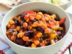 vega chilli Fruit Salad, Paleo, Soup, Vegan, Chili Con Carne, Fruit Salads, Beach Wrap, Soups, Vegans