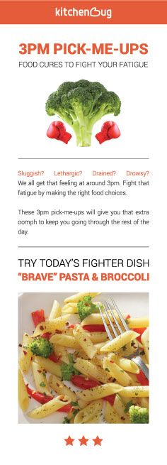 Fight through the 3pm fatigue the healthy way with this dish! Click for recipe exclusive to Kitchenbug