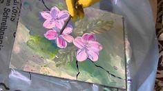 Acrylmalerei für Anfänger Apfelblüten acrylic painting for beginners app...