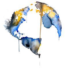 Globe Watercolor Print