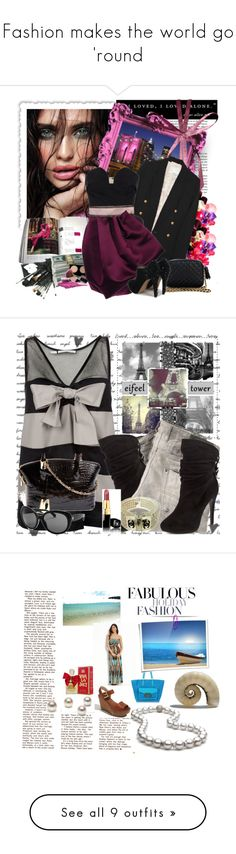 """Fashion makes the world go 'round"" by marielle80 ❤ liked on Polyvore featuring McGinn, Sweet Pea by Stacy Frati, 3.1 Phillip Lim, Rebecca Minkoff, Glo Minerals, MAC Cosmetics, Roksanda Ilincic, Sam Edelman, Aquilano.Rimondi and Diesel"