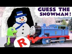 Funny Funlings Christmas Guess The Snowman Game with Thomas The Tank Eng...